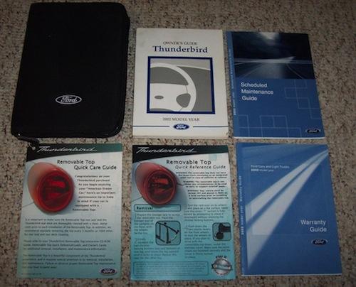 2002 2005 thunderbird owners manuals brand new rh thunderbirdspecialties com 2002 ford t bird owners manual Thunderbird TV Manual