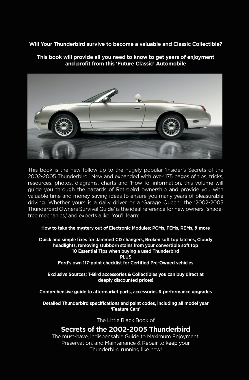'The 2002-2005 Thunderbird Owners Survival Guide' ...
