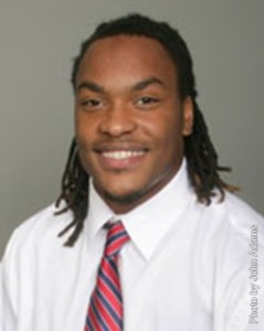 Senior linebacker Bryson James was nominated for the FWAA Courage Award. Photo by John Adams | usajaguars.com