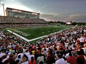 Veterans Memorial Stadium in Troy, Alabama. | encyclopediaofalabama.org