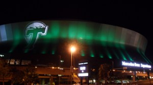 Tulane University also calls the Superdome home until they move back on campus in 2014 in their new stadium.