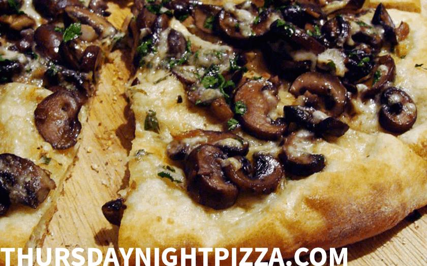 Drunken Mushroom Pizza