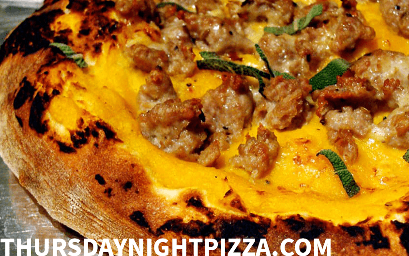 Pumpkin and Sausage Pizza