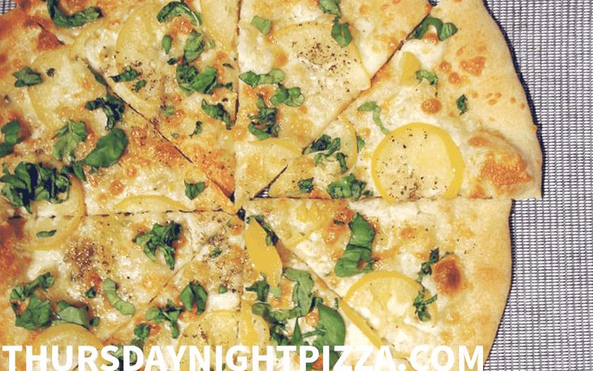 Preserved Lemon and Mozzarella Pizza
