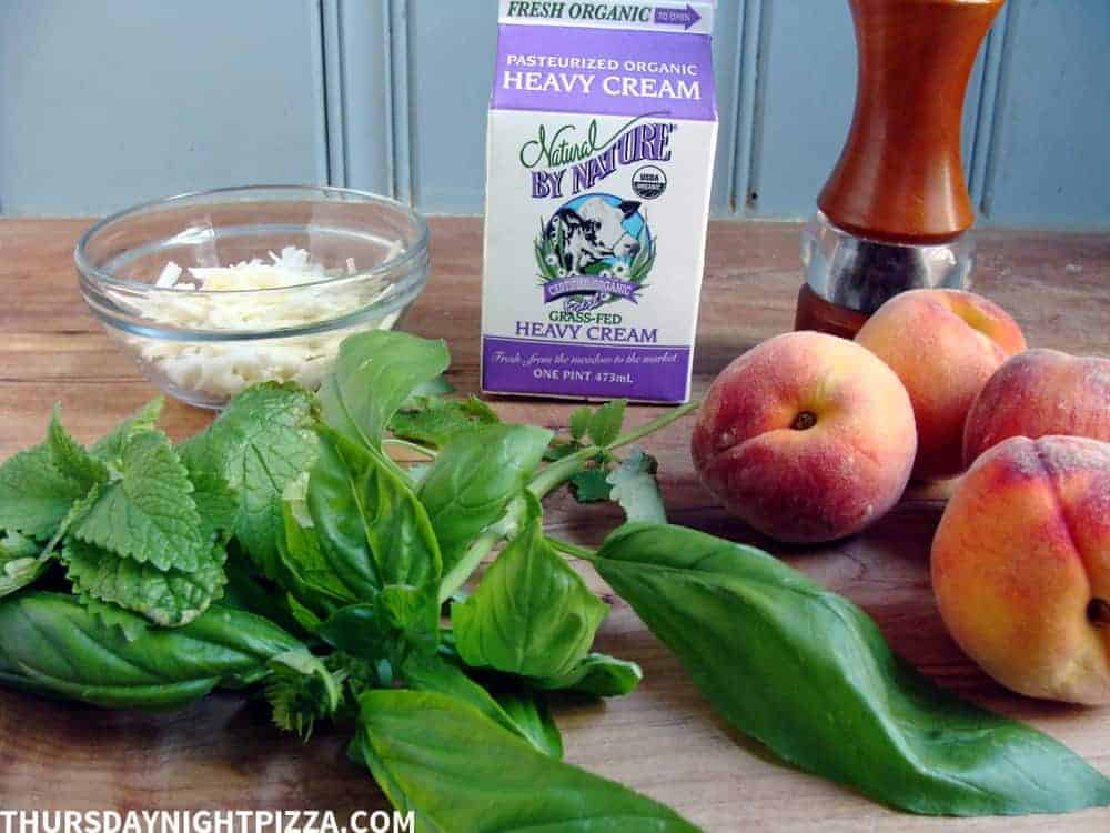peaches and cream pizza ingredients