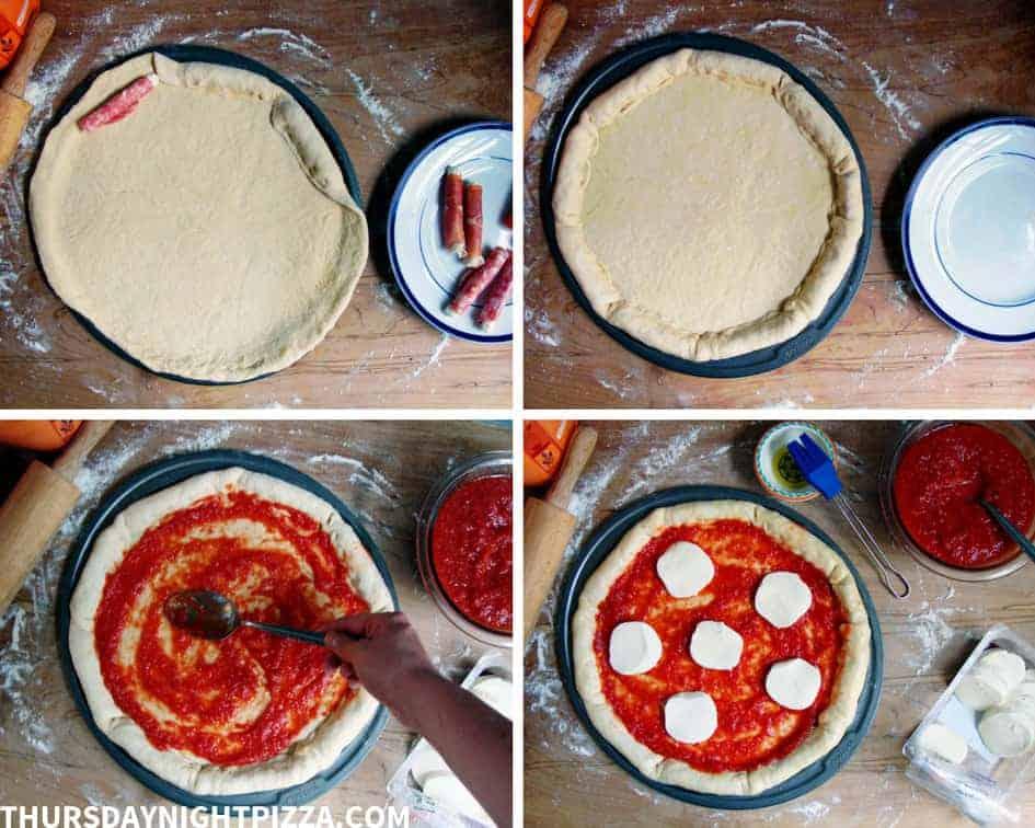 Stuffed Crust Pizza process