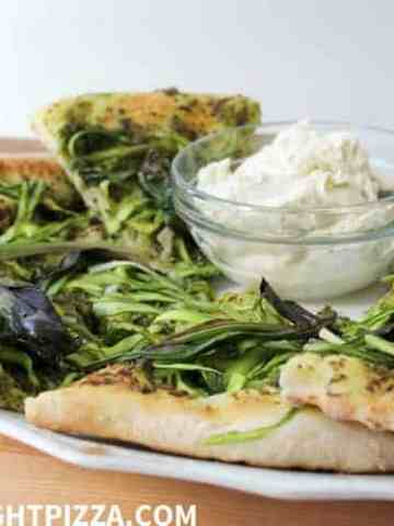 Asparagus, Ramp, and Mascarpone Pizza