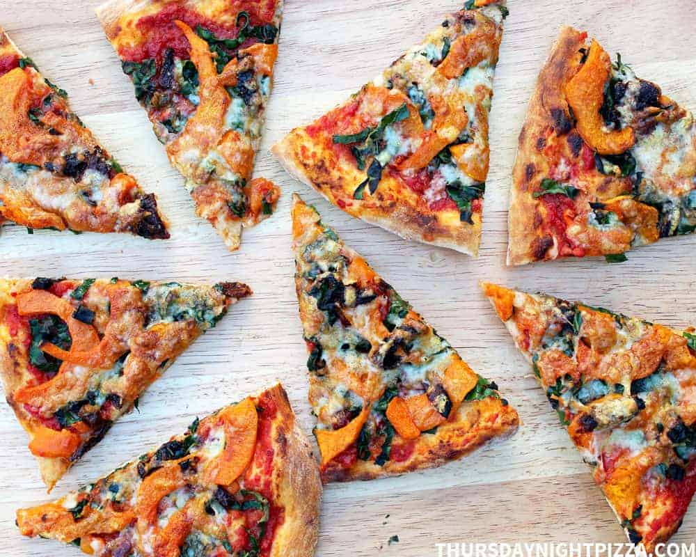 Pumpkin and Kale Pizza