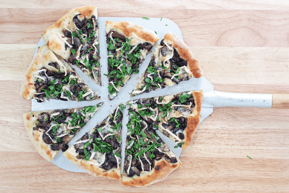Mushroom and Brie Pizza