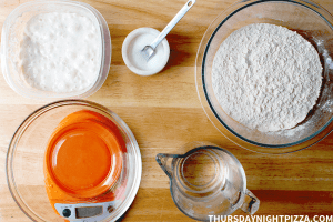 no yeast sourdough pizza dough ingredients