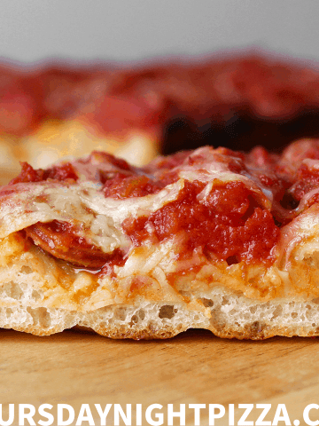 Detroit Style Pizza with Pepperoni