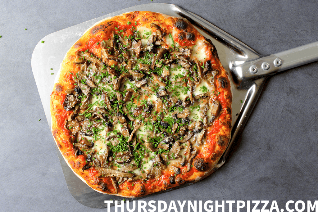 Mushroom Pizza with Chives