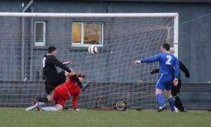 Action from the only goal of the game the last time Thurso met Golspie Sutherland