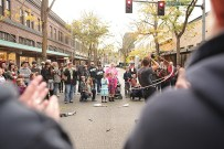 The streets fill with fun and families at Spring Arts Walk. Photo credit: Shanna Paxton