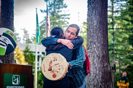 Welcome Woman Carving Unveiling The Evergreen State College-21