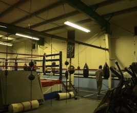 TCPAL Coach Lydell Spry Olympia boxing gym donations