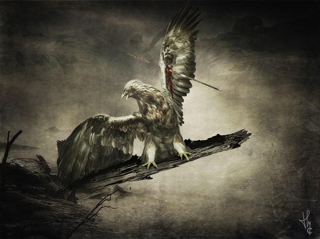 L'aigle-blessé