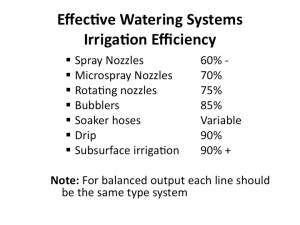 Irrigation Efficiency