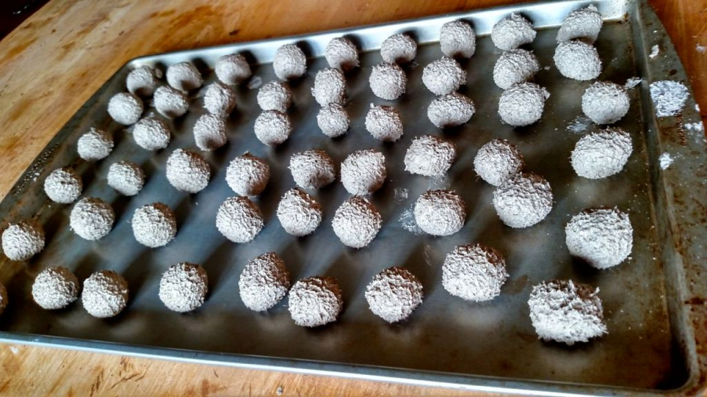 seed bombs on cookie sheet