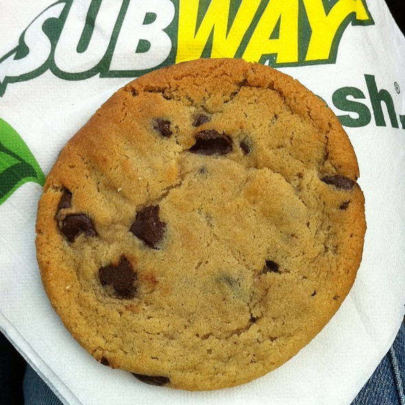 50 seconds to eat 1 Subway cookie = 220 calories consumed