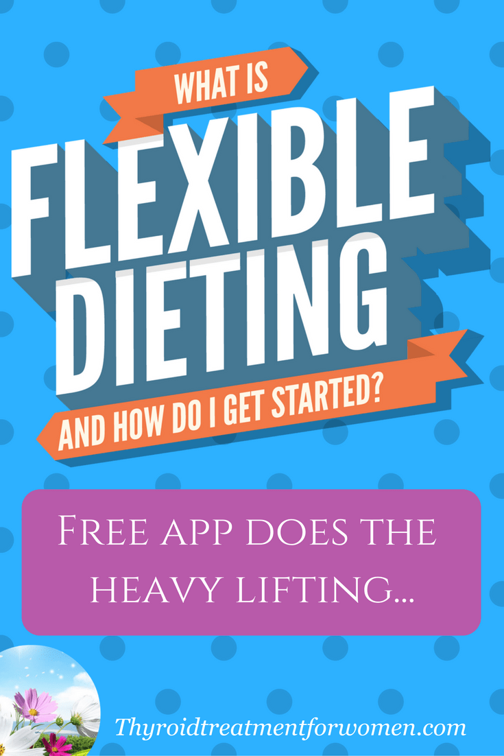Flexible dieting for hypothyroidism - what you need to know to get started - app does all the work. Find out which app works best