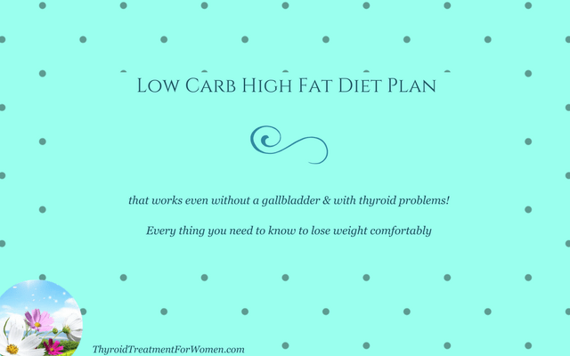 Low Carb High Fat Diet Plan - No Gallbladder & Thyroid Issues