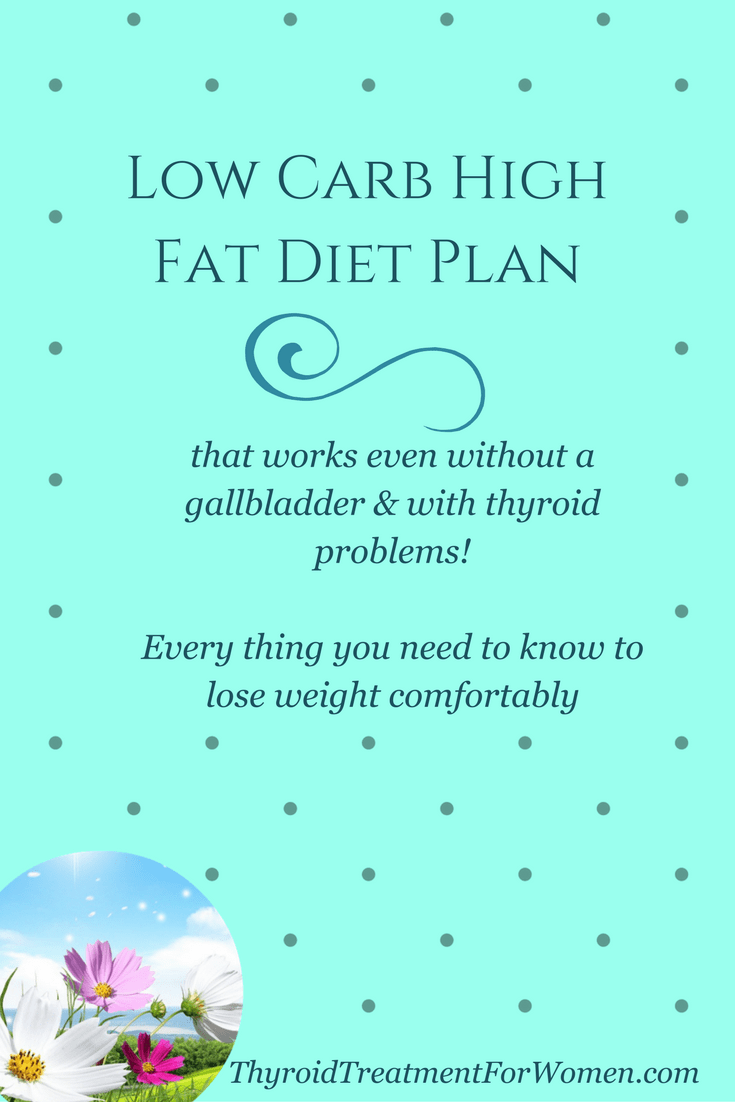 low carb high fat diet plan for those without a gallbladder & who suffer with thyroid issues that actually works