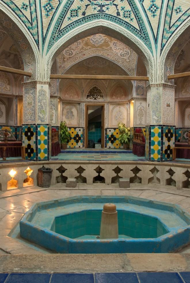 L'hammam di Kashan, stupendamente restaurato, è uno dei più belli dell'Iran