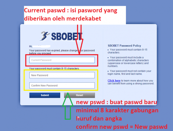 cara ganti password sbobet - Cara Daftar Sbobet Casino