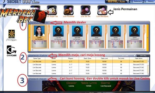 live dealer sbobet casino - Cara Daftar Sbobet Casino