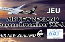 TERMINÉ - JEU AIR NEW ZEALAND - Nouveau Dreamliner