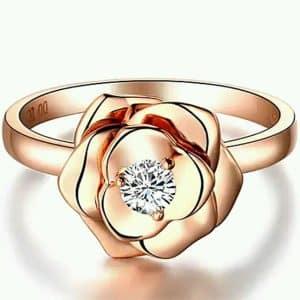 Rose Ring Perhiasan cincin emas dan berian Rose Gold 18K Diamonds