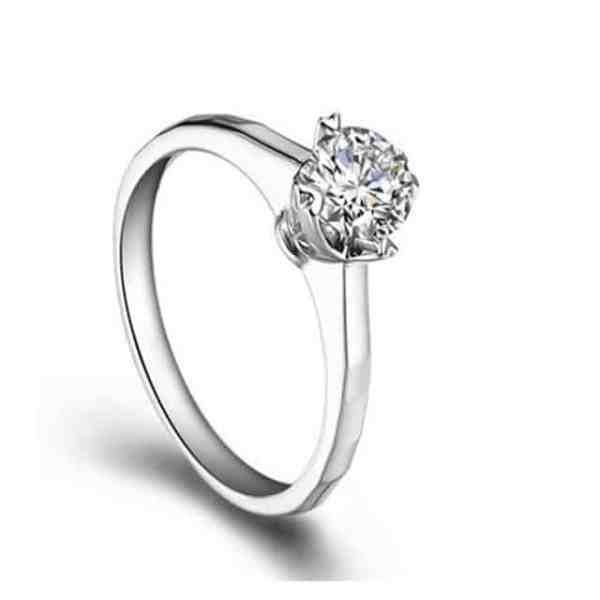 Tiaria Perhiasan cincin emas berlian White Gold 18K Diamond Always