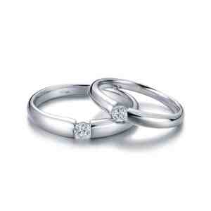 Tiaria Perhiasan cincin emas berlian White Gold 18K Diamond Sunshine