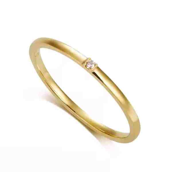 Perhiasan emas berlian white gold 18K diamond Joy