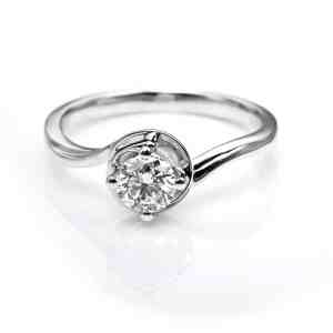 Perhiasan emas berlian white gold 18K diamond DHTXDFJ002
