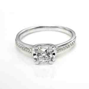 Perhiasan emas berlian white gold 18K diamond DHTXDFJ018