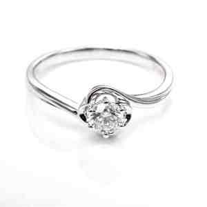 Perhiasan emas berlian white gold 18K diamond DHTXDFJ024