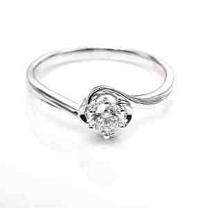 Perhiasan emas berlian white gold 18K diamond DHTXDFJ024
