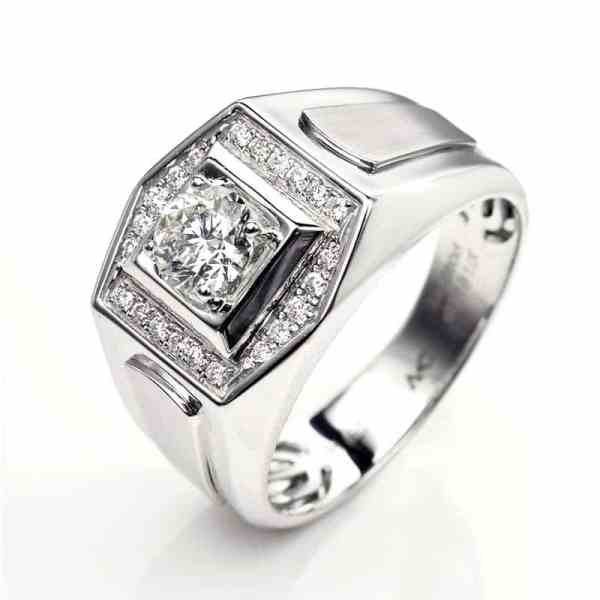Perhiasan emas berlian white gold 18K diamond DHTXHJZ029