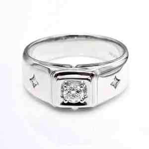 Perhiasan emas berlian white gold 18K diamond DHTXHJZ063