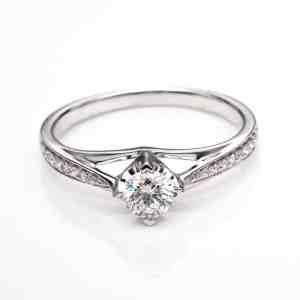 Perhiasan emas berlian white gold 18K diamond DHTXHJZ072