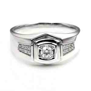 Perhiasan emas berlian white gold 18K diamond DHTXHJZ078