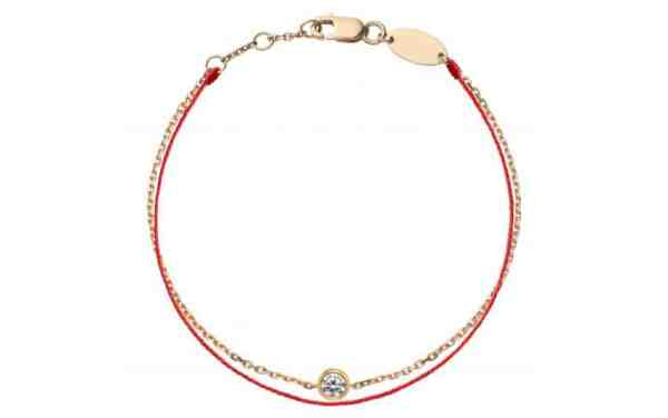 Tiaria 18K Gold Pure Duet Red Baby Bracelet