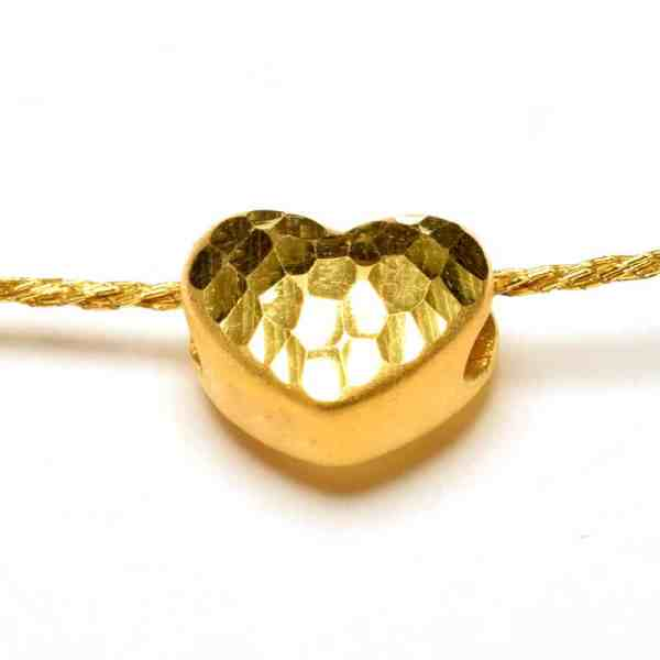 Tiaria 24K Gold Crafted Heart Charm 0.3g