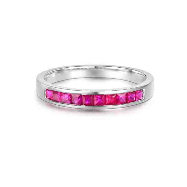 Tiaria 18K Versatile Ruby Ring Perhiasan Cincin Emas 1