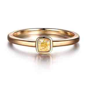 Tiaria 18K Fancy Yellow Diamond Ring
