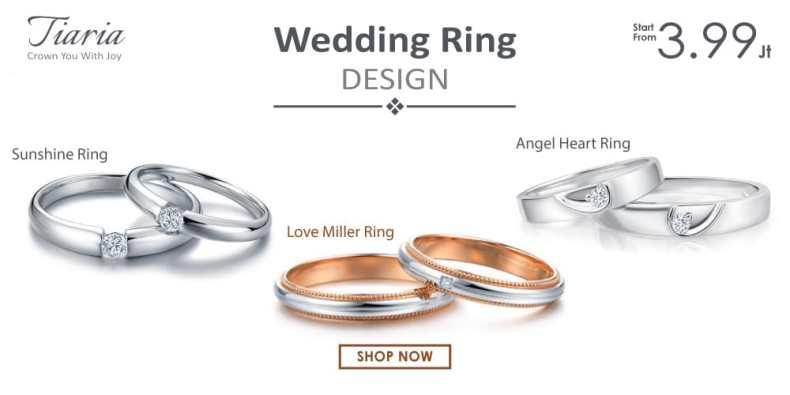 Tiaria Jewelry Perhiasan Cincin Pernikahan Emas dan Berlian