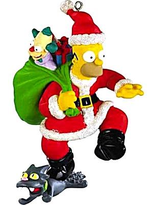 Carlton Ornament Talking Homer Simpson Doh Ho Ho Merry
