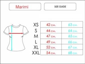 tabel marimi tricouri femei